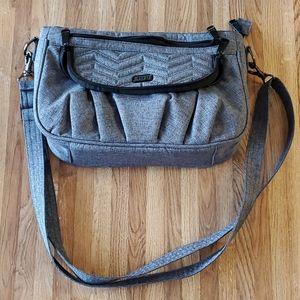 Lug Mambo Crossbody Bag Purse Cloth Heather Gray